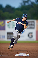 Connecticut Tigers second baseman Will Savage (8) runs the bases during a game against the Auburn Doubledays on August 9, 2017 at Falcon Park in Auburn, New York.  Connecticut defeated Auburn 6-4.  (Mike Janes/Four Seam Images)