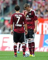FUSSBALL   1. BUNDESLIGA  SAISON 2011/2012   2. Spieltag 1 FC Nuernberg - Hannover 96          13.08.2011 Markus Feulner, Tomas Pekhart (v. li., 1 FC Nuernberg)