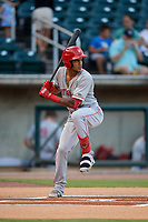 Chattanooga Lookouts Jose Siri (2) at bat during a Southern League game against the Birmingham Barons on July 24, 2019 at Regions Field in Birmingham, Alabama.  Chattanooga defeated Birmingham 9-1.  (Mike Janes/Four Seam Images)