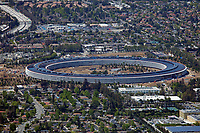 aerial photograph Apple Park, Cupertino, Santa Clara County, California