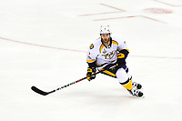 May 29, 2017: Nashville Predators defenseman Yannick Weber (7) in game action during game one of the National Hockey League Stanley Cup Finals between the Nashville Predators  and the Pittsburgh Penguins, held at PPG Paints Arena, in Pittsburgh, PA. Pittsburgh defeats Nashville 5-3 in regulation time.  Eric Canha/CSM