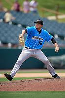 Akron RubberDucks pitcher David Speer (36) during an Eastern League game against the Bowie Baysox on May 30, 2019 at Prince George's Stadium in Bowie, Maryland.  Akron defeated Bowie 9-5.  (Mike Janes/Four Seam Images)