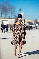 Giovanna Battaglia at Paris Fashion Week (Photo by Hunter Abrams/Guest of a Guest)