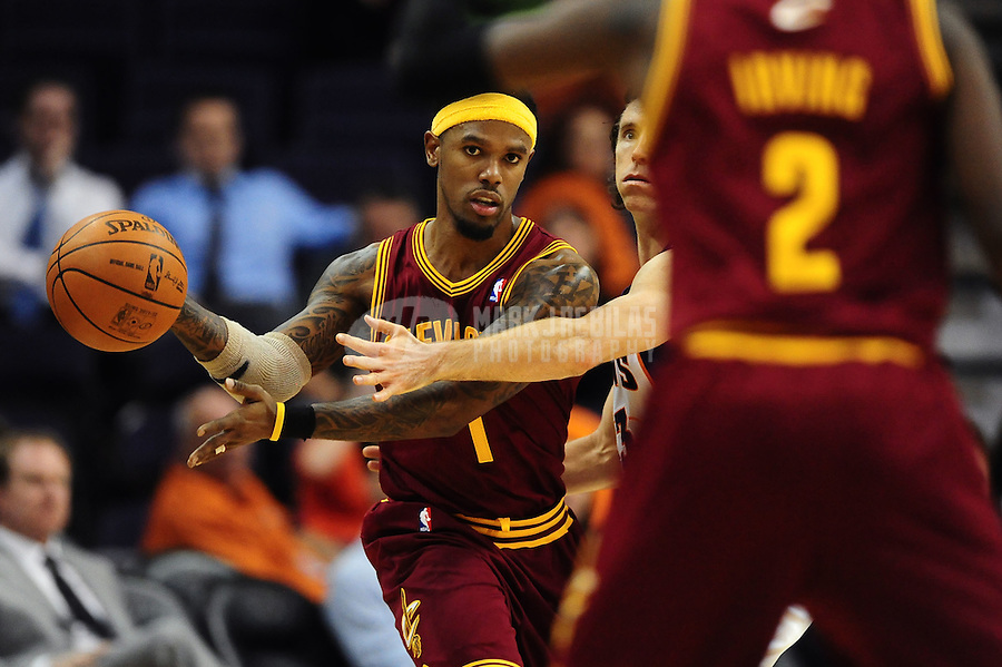 Jan. 12, 2012; Phoenix, AZ, USA; Cleveland Cavaliers guard Daniel Gibson during the game against the Phoenix Suns at the US Airways Center. The Cavaliers defeated the Suns 101-90. Mandatory Credit: Mark J. Rebilas-USA TODAY Sports
