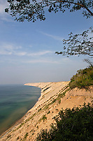 The Grand Sable Banks rise from Lake Superior near Grand Marais Michigan in Pictured Rocks National Lakeshore.