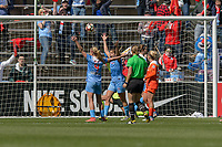 Bridgeview, IL - Saturday May 06, 2017: Alyssa Mautz, Sofia Huerta during a regular season National Women's Soccer League (NWSL) match between the Chicago Red Stars and the Houston Dash at Toyota Park.