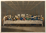 Jesus' last supper with his disciples     Date:      Source: Leonardo da Vinci engraved by Thouvenin
