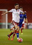 Chris Basham of Sheffield Utd and George Green of Oldham Athletic - FA Cup Second round - Sheffield Utd vs Oldham Athletic - Bramall Lane Stadium - Sheffield - England - 5th December 2015 - Picture Simon Bellis/Sportimage