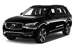 2020 Volvo XC90 R-Design 5 Door SUV angular front stock photos of front three quarter view