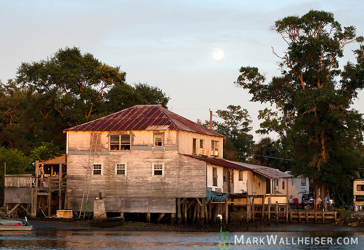 One of the old fish houses at Spring Creek in Wakulla County, Florida July 24, 2010.