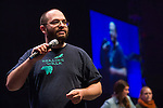 Joe Solomon, social media trainer for Energy Action Coalition on stage at Powershift. Over six thousand young people from all over the country are converging in Pittsburgh, PA for Power Shift 2013, a massive training dedicated to bringing about a safe planet and a just future for all people. (Photo by: Robert van Waarden)