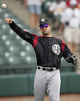 Oklahoma Redhawks Ramon Vazquez during the 2007 Pacific Coast League Season. Photo by Andrew Woolley/ Four Seam Images.