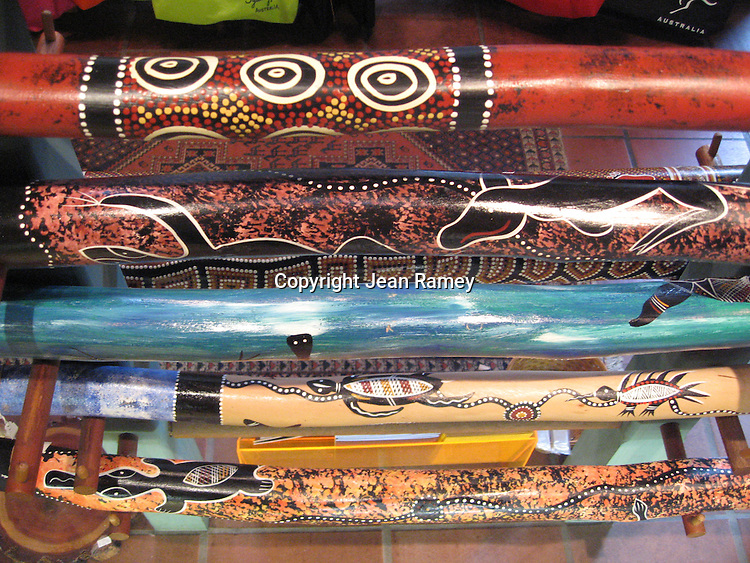Aboriginal Didjeridus are art pieces as much as they're musical instruments