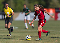 Bradenton, FL - Sunday, June 12, 2018: Hannah Bebar during a U-17 Women's Championship Finals match between USA and Mexico at IMG Academy.  USA defeated Mexico 3-2 to win the championship.