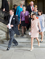 The royal christening of Crown Princess Victoria and Prince Daniel s daughter Princess Estelle Silvia Ewa Mary of Sweden, in the Royal Chapel in Stockholm, May 22, 2012.   .. Picture shows: Princess Madeleine s boyfriend Chris ONeill, Prince Carl Philip s girlfriend Sofia Hellqvist... Photo: David Sica Code: 1002.. COPYRIGHT STELLA PICTURES..Credit: Stella Pictures/face to face..- Germany, Austria, Switzerland and USA rights only - / Mediapunchinc
