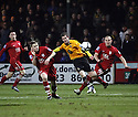 Adam Marriott of Cambridge United shoots wide during the Blue Square Bet Premier match between Cambridge United and Kidderminster Harriers at the Abbey Stadium, Cambridge on 18th February, 2011 .© Kevin Coleman 2011.