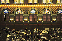 Hartford: Capitol--Chamber of Lower House, in session, debating Gov. Weicker's Income Tax Bill. Photo '91.