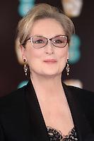 Meryl Streep<br /> at the 2017 BAFTA Film Awards held at The Royal Albert Hall, London.<br /> <br /> <br /> &copy;Ash Knotek  D3225  12/02/2017