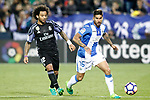 CD Leganes' Samuel Garcia (r) and Real Madrid's Marcelo Vieira during La Liga match. April 5,2017. (ALTERPHOTOS/Acero)