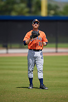 Houston Astros Jon Kemmer (28) during a Minor League Spring Training Intrasquad game on March 28, 2018 at FITTEAM Ballpark of the Palm Beaches in West Palm Beach, Florida.  (Mike Janes/Four Seam Images)