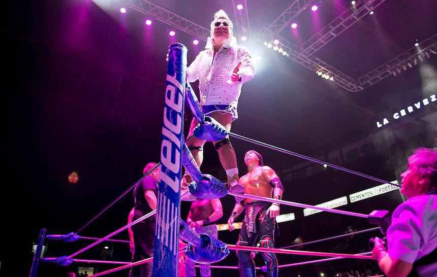 "Maximo a Lucha Libre wrestler, is an ""Exotico"" meaning he fights as a gay Luchador, wrestles in the Arena Mexico. Mexico City"