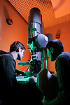 TEM Transmission Electron Microscope. Dr.Jeff Farrer, Jason Neff (Physics student).March 1, 2005..Photography by Mark A. Philbrick