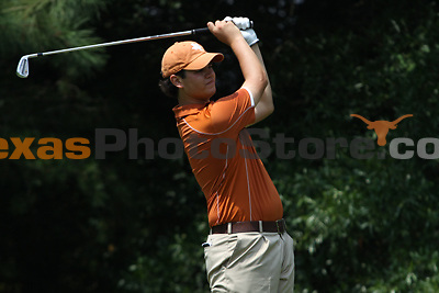 University of Texas freshman Beau Hossler watches his drive during the Carpet Capital Collegiate at The Farm Golf Club in Rocky Face, Ga., on Sunday, Sept. 8. The Longhorns return to The Farm as defending champions after shooting a 13-under 851 in 2012.<br /> <br /> Photo by Patrick Smith