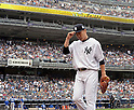 Masahiro Tanaka (Yankees),<br /> SEPTEMBER 21, 2014 - MLB :<br /> Masahiro Tanaka of the New York Yankees walks back to the dugout after striking out during the Major League Baseball game against the Toronto Blue Jays at Yankee Stadium in Bronx, New York, United States. (Photo by AFLO)
