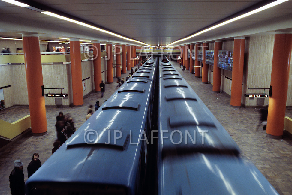 Montreal, Canada, March 1978. The city's subway system