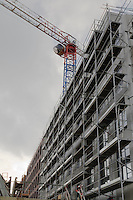 Ensemble de 209 logements le long du mail Leon Blum dont le maitre d'ouvrage est Icade Capri<br /> Loi Scellier - pret locatif social - defiscalisation<br /> ZAC de la Morinais - Ilot 7