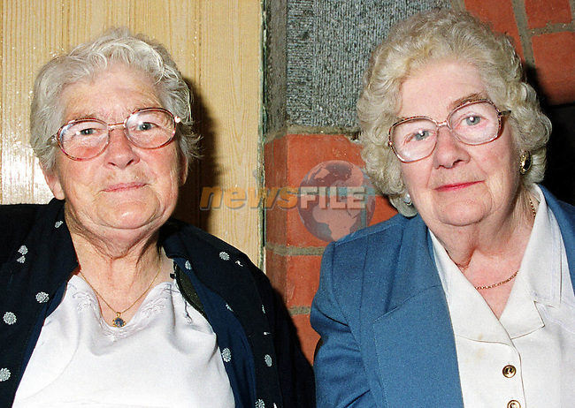Angela Duffy and Magdalene Quinn, Kilkerley at the celebrations to mark the re-opening of the Old School, Kilkerley.