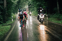 breakaway group in one of many downpours during this stage<br /> <br /> Stage 4: Gansingen &gt; Gstaad (189km)<br /> 82nd Tour de Suisse 2018 (2.UWT)