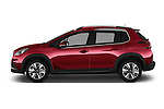 Car Driver side profile view of a 2016 Peugeot 2008 Allure 5 Door SUV Side View