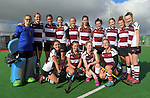 The North Harbour team after the National Women's Association Under-18 Hockey Tournament 9th place playoff match between Wairarapa and North Harbour at Twin Turfs in Clareville, New Zealand on Saturday, 15 July 2017. Photo: Dave Lintott / lintottphoto.co.nz