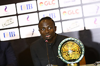 January 7th 2020, Hugharda, Egypt;  Senegalese football player Sadio Mane speaks after receiving the Player of the Year award during the 28th Confederation of African Football CAF Awards in Hurghada, Egypt, on Jan. 7, 2020.