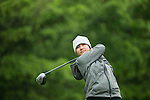 Punpaka Phuntumabamrung of Thailand tees off the 18th hole during Round 1 of the World Ladies Championship 2016 on 10 March 2016 at Mission Hills Olazabal Golf Course in Dongguan, China. Photo by Victor Fraile / Power Sport Images