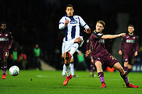 Jake Livermore of West Bromwich Albion battles with George Byers of Swansea City during the Sky Bet Championship match between West Bromwich Albion and Swansea City at The Hawthorns in Birmingham, England, UK. Wednesday 13 March 2019