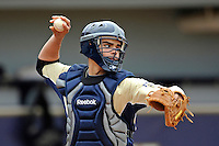 4 March 2012:  FIU catcher Aramis Garcia (44) throws to second as the FIU Golden Panthers defeated the Brown University Bears, 8-3, at University Park Stadium in Miami, Florida.