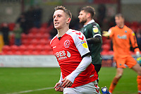 Fleetwood Town's Ashley Hunter celebrates scoring his side's second goal<br /> <br /> Photographer Richard Martin-Roberts/CameraSport<br /> <br /> The EFL Sky Bet League One - Fleetwood Town v Plymouth Argyle - Saturday 16th March 2019 - Highbury Stadium - Fleetwood<br /> <br /> World Copyright © 2019 CameraSport. All rights reserved. 43 Linden Ave. Countesthorpe. Leicester. England. LE8 5PG - Tel: +44 (0) 116 277 4147 - admin@camerasport.com - www.camerasport.com