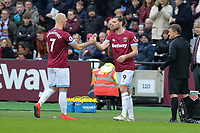 Marko Arnautovic of West Ham United and Andy Carroll of West Ham United during West Ham United vs Arsenal, Premier League Football at The London Stadium on 12th January 2019