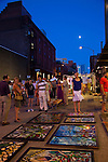 On the first Thursday of every month, art galleries in Portland hold receptions and stay open later in the evening to launch their new shows.  The galleries are primarily located in the Pearl District, but independent artists set up in the streets around the Pacific Northwest College of Art.  Street artists and musicians occupy the neighborhood surrounding the Pacific Northwest College of Art in the Pearl District.