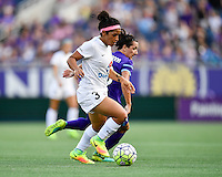 Orlando, FL - Saturday Sept. 24, 2016: Desiree Scott, Lisa De Vanna during a regular season National Women's Soccer League (NWSL) match between the Orlando Pride and FC Kansas City at Camping World Stadium.