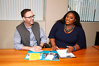 LOS ANGELES - MARCH 28: David Beeler, Kai Carter at General Counseling - client photo shoot at the Actors Fund on March 28, 2019 in Los Angeles, California