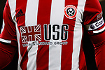 The front of the shirt of Oliver Norwood of Sheffield United during the Premier League match at Bramall Lane, Sheffield. Picture date: 10th January 2020. Picture credit should read: James Wilson/Sportimage