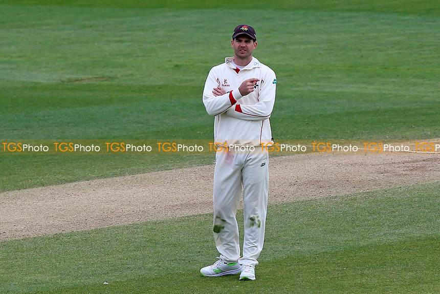 Jimmy Anderson of Lancashire during Essex CCC vs Lancashire CCC, Specsavers County Championship Division 1 Cricket at The Cloudfm County Ground on 10th April 2017