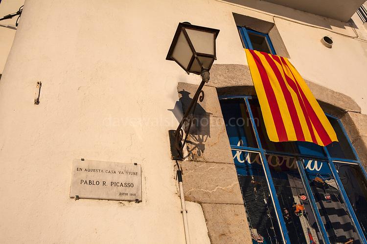 """House where Pablo Picasso lived, Cadaques, Catalonia - """"En aquesta casa va viure Pablo R Picasso"""""""