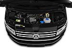 Car stock 2019 Volkswagen Caravelle Highline 4 Door Passenger Van engine high angle detail view