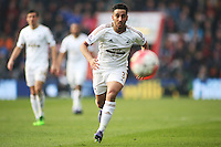 Neil Taylor of Swansea City during the Barclays Premier League match between AFC Bournemouth and Swansea City played at The Vitality Stadium, Bournemouth on March 12th 2016