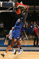DeAndre Daniels at the NBPA Top100 camp at the John Paul Jones Arena Charlottesville, VA. Visit www.nbpatop100.blogspot.com for more photos. (Photo © Andrew Shurtleff)
