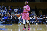 08 February 2015: Clemson's Chelsea Lindsay. The Duke University Blue Devils hosted the Clemson University Tigers at Cameron Indoor Stadium in Durham, North Carolina in a 2014-15 NCAA Division I Women's Basketball game. Duke won the game 89-60.